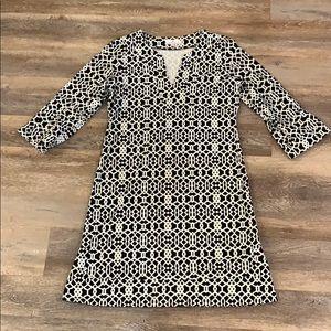 JUDE CONNALLY MEGAN DRESS BLACK & WHITE SMALL